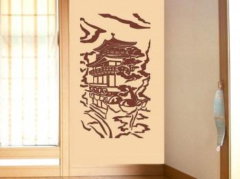 Украшение стен виниловыми наклейками
